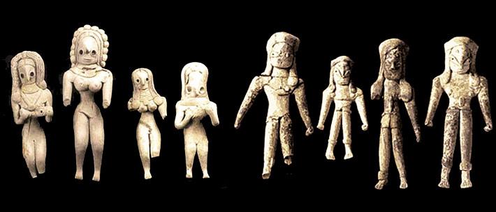 Figurines c. 3000 BCE & c. 2700 BCE