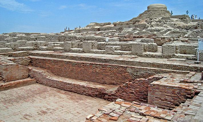 Mohenjo-Daro excavation site made from bricks