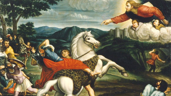 Paul's conversion on the road to Damascus