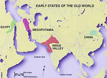 Indus River On A World Map.Indus Sarasvati Civilization The Human Journey