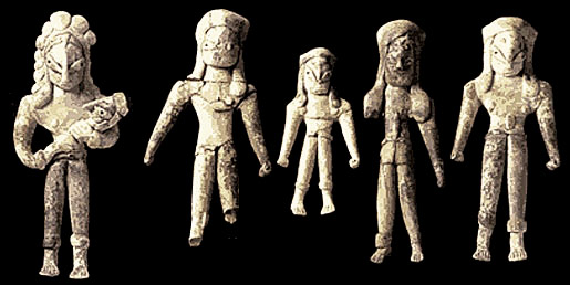 Male figurines from c. 2700 BCE