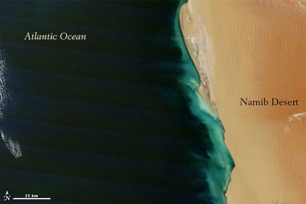 Atlantic Ocean off the coast of Africa from space