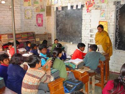 Classroom in rural India