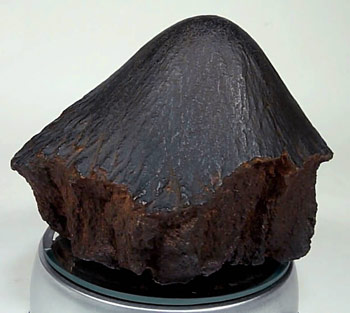 Example of a cone-shaped meteorite