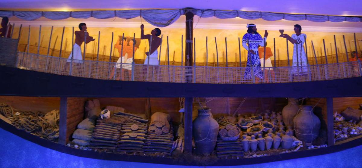 Bodrum Underwater Archaeology Museum's Uluburun shipwreck diorama.